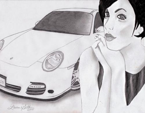 Alice Cullen wallpaper possibly with a sedan and an automobile titled Alice and her Porsche