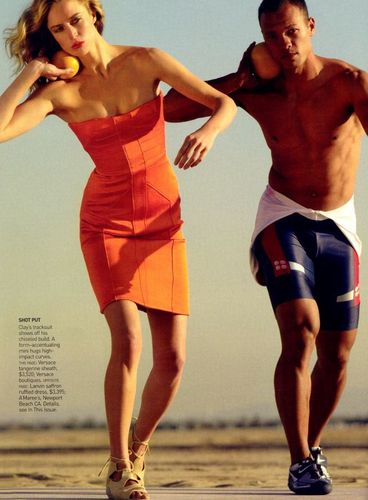 Vogue wallpaper called April 2008: Raquel Zimmerman w/ Bryan Clay