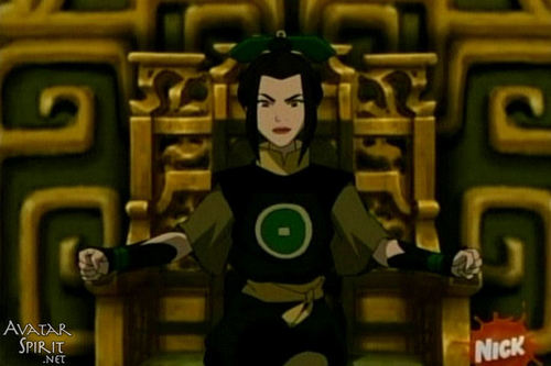 Azula on Earth kingdom সিংহাসন