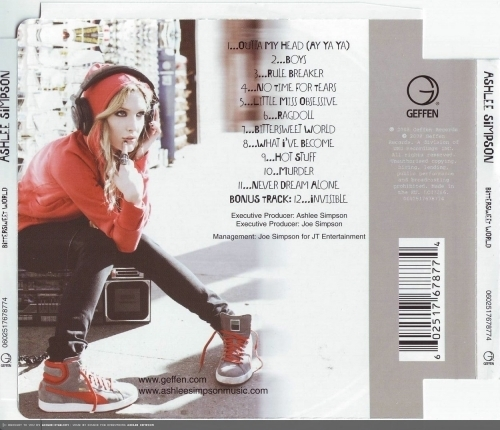 Ashlee Simpson wallpaper possibly with bare legs, a hip boot, and a sign called Bittersweet World