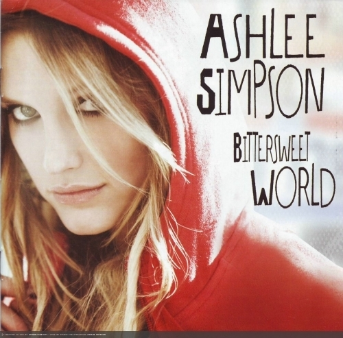 Ashlee Simpson wallpaper possibly containing a sign, a newspaper, and a portrait titled Bittersweet World