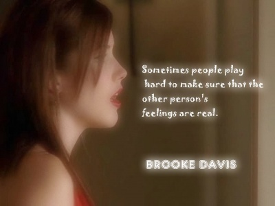 Brooke Davis वॉलपेपर with a portrait titled Brooke's quotes!