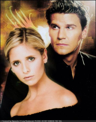 buffy, a caça-vampiros wallpaper with a portrait titled Buffy & angel