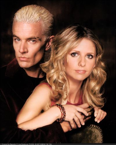 Buffy the Vampire Slayer wallpaper probably with a portrait and skin called Buffy & Spike