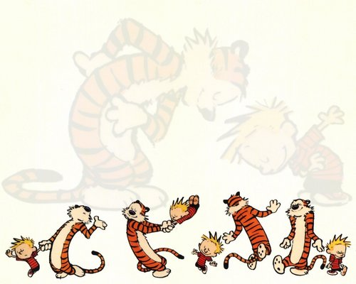 Calvin & Hobbes wallpaper called Calvin and Hobbes Dancing