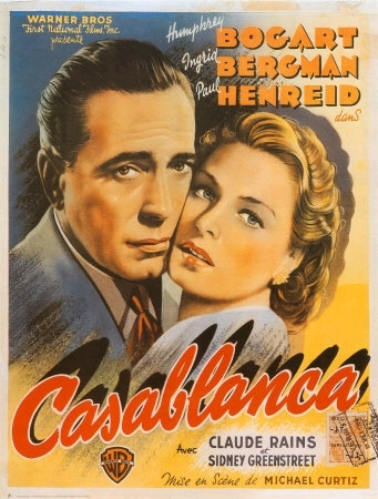 Casablanca fond d'écran with animé entitled Casablanca Movie Poster