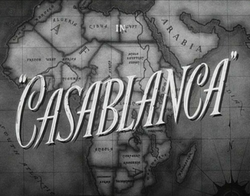 Casablanca wallpaper possibly containing a sign called Casablanca Title