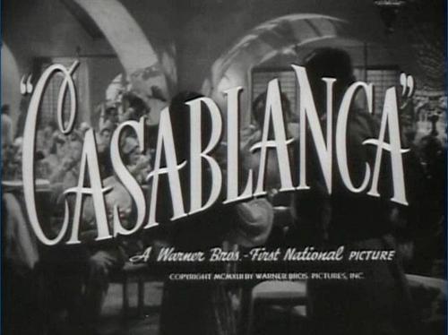 Casablanca wallpaper containing anime entitled Casablanca Title