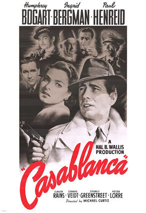 Casablanca hình nền with anime titled Casablanca Movie Poster