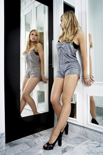 Kristen Bell wallpaper probably containing bare legs, tights, and a playsuit titled Complex Magazine Photoshoot