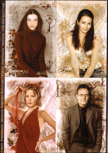 Buffy the Vampire Slayer wallpaper with a portrait titled Dawn,Fred,Anya & Giles