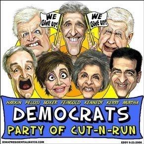Democrat's cut and run