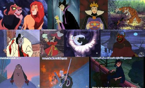 Disney Villain Collage