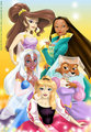 Disney's Forgotten Princesses - classic-disney fan art