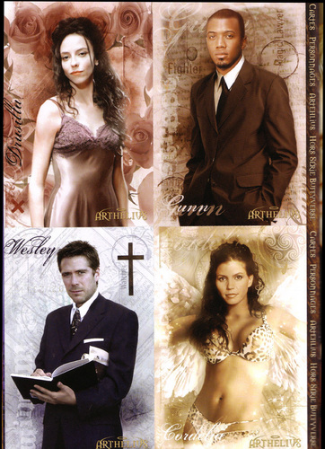 Buffy the Vampire Slayer wallpaper containing a business suit, a suit, and a well dressed person titled Dru,Gunn,Wesley & Cordelia