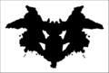 Example of a Rorschach Ink Blot - psychology photo