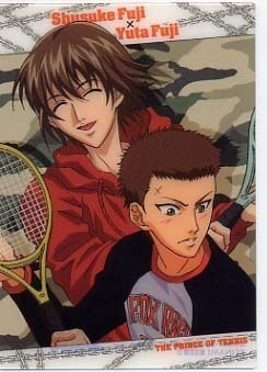 Prince of Tennis wallpaper containing a tennis racket, a tennis player, and a tennis pro called Fuji Syusuke and Yuuta