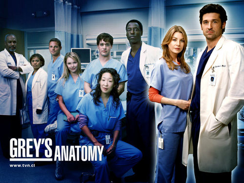 Grey's Anatomy karatasi la kupamba ukuta containing a well dressed person entitled Grey's Anatomy