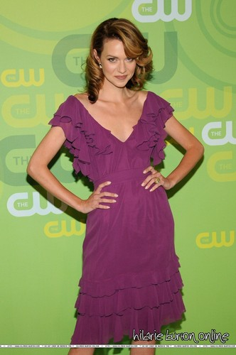 Hilarie Burton wallpaper probably with a dinner dress, a cocktail dress, and a gown titled Hilarie