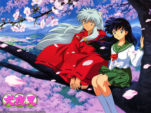 Inuyasha hình nền containing anime called Inuyasha & Kagome