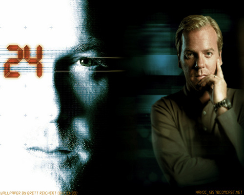 24 দেওয়ালপত্র probably containing a sign and a business suit entitled Jack Bauer