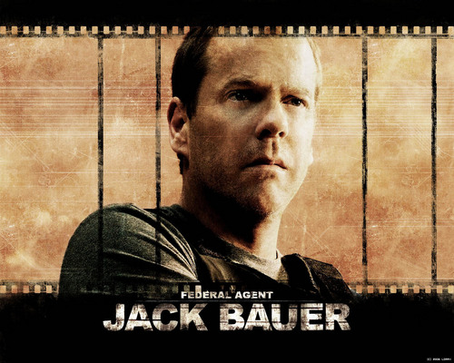 24 wallpaper possibly with a penal institution, a holding cell, and a newspaper entitled Jack bauer