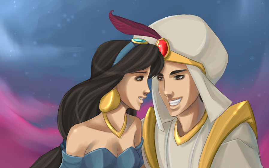 disney princess jasmine and aladdin. Jasmine and Aladdin