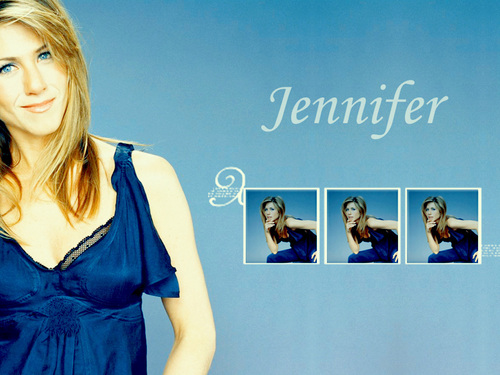 Jennifer Aniston fond d'écran with a portrait titled Jen