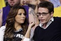 Kevin Connolly and Eva Longoria Parker at the Lakers vs Spurs Playoffs May 21, 2008