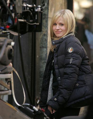 Kristen on set!