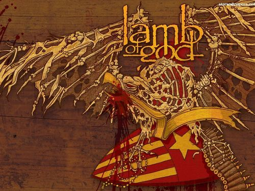 Metal wallpaper possibly with anime entitled Lamb of God