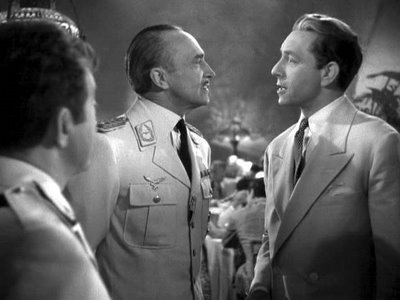 Casablanca wallpaper with a business suit and a suit titled Laszlo & Major Strasser