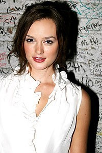 Leighton Meester at Rent's studio.