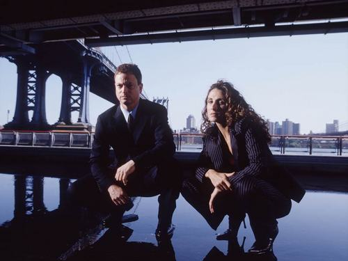CSI:NY wallpaper with a business suit and a well dressed person entitled Mac & Stella