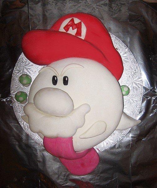 Mario Boo cake