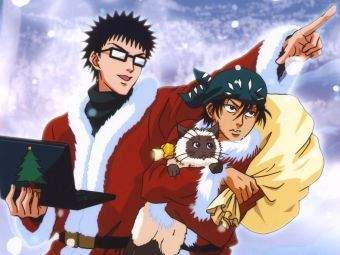 Prince of Tennis wallpaper containing anime called Inui, Kaidoh and Karupin: Merry Christmas!