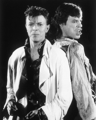 Mick Jagger & David Bowie - the-80s photo