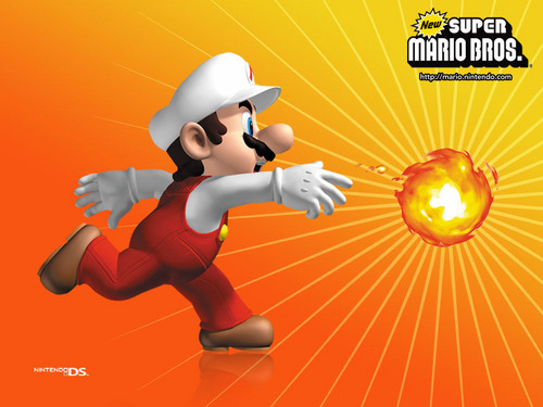 Nintendo DS Hintergrund entitled New Super Mario Bros.