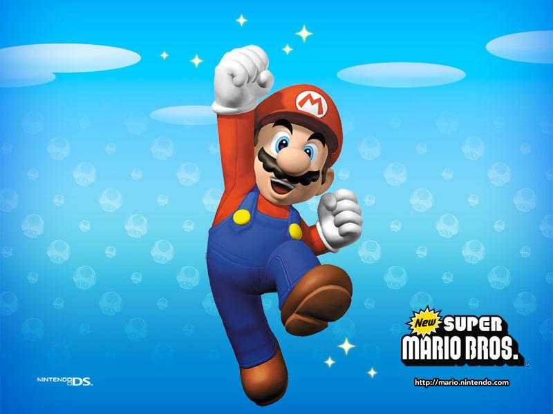 mario bros wallpaper. New Super Mario Bros.