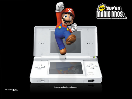 Nintendo DS achtergrond titled New Super Mario Bros.