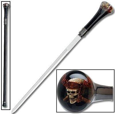 PIRATE SKULL SWORD CANE