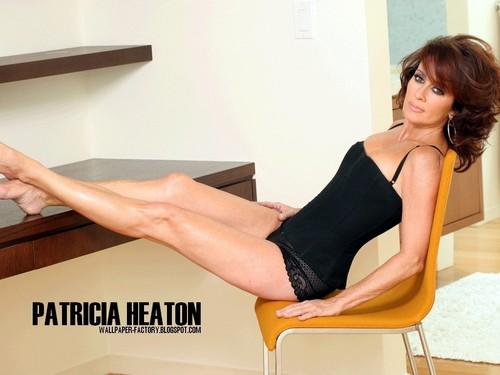 Patricia Heaton karatasi la kupamba ukuta with a leotard, tights, and a maillot titled Patricia Heaton