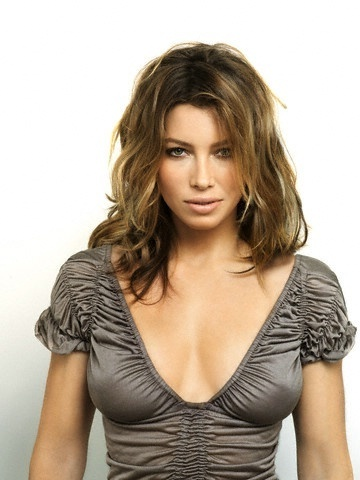 Jessica Biel karatasi la kupamba ukuta possibly with a bustier, a chemise, and a leotard titled Photoshoot