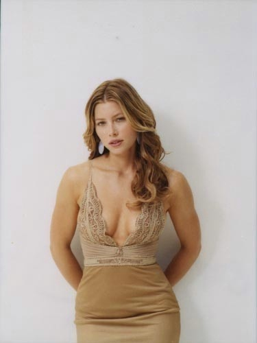 Jessica Biel karatasi la kupamba ukuta possibly with a bustier, attractiveness, and a chemise titled Photoshoot