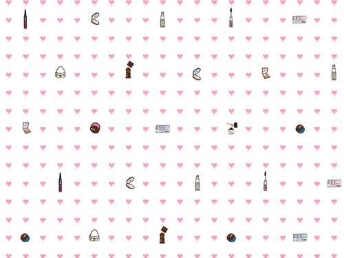 Pretty Mark hearts fondo de pantalla