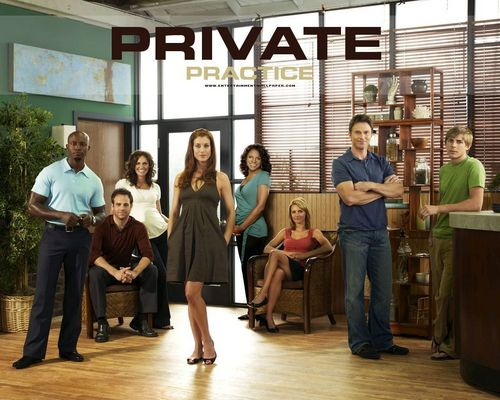 Private Practice wallpaper probably with a warehouse, a diner, and a penal institution titled Private Practice