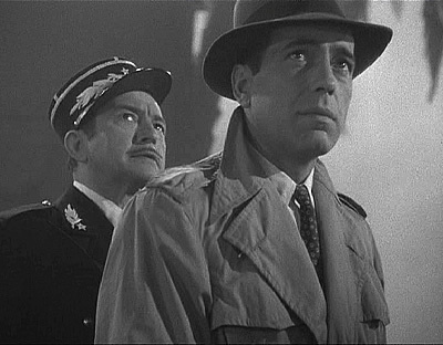 Casablanca 壁纸 probably with a fedora, dress blues, and a full dress uniform titled Rick & Capt. Renault