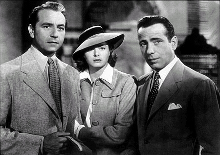 Casablanca wallpaper with a business suit and a suit titled Rick, Ilse & Laszlo