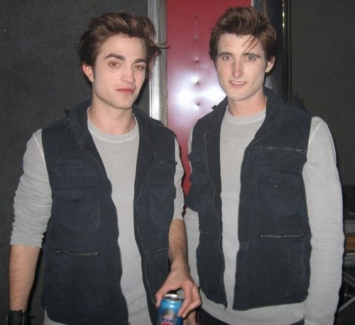 Rob and his stunt double - twilight-movie Photo