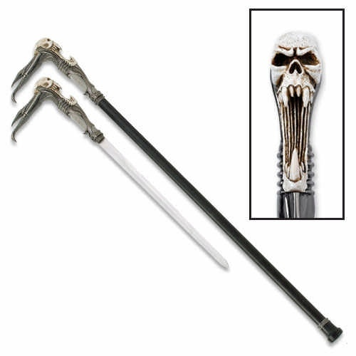 SCREAMING SKULL SWORD CANE - walking-aids Photo